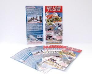 Top of the Rockies Zip Line Rack Card