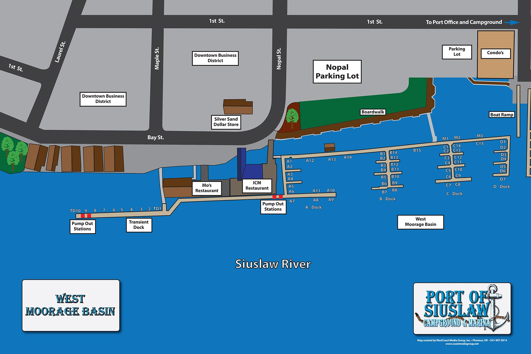 Port Commercial Slips Map