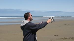 Dustin Flying His Kite