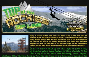 Top of the Rockies Zip Line