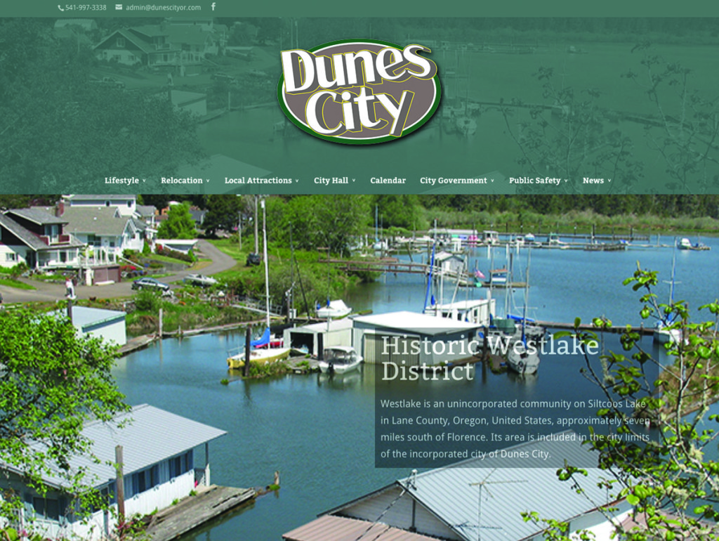 Dunes City – Website Redesign