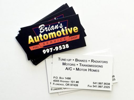 Brian's Automotive – Business Cards