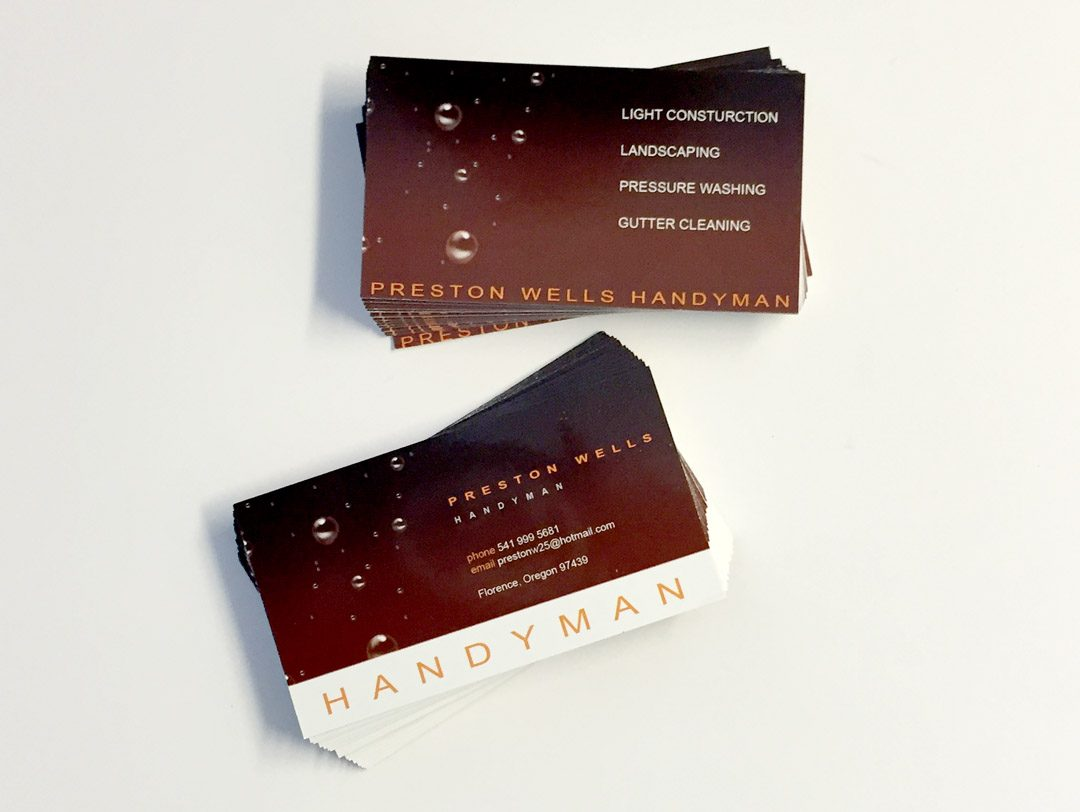 Preston Handyman - Business Cards - WestCoast Media Group