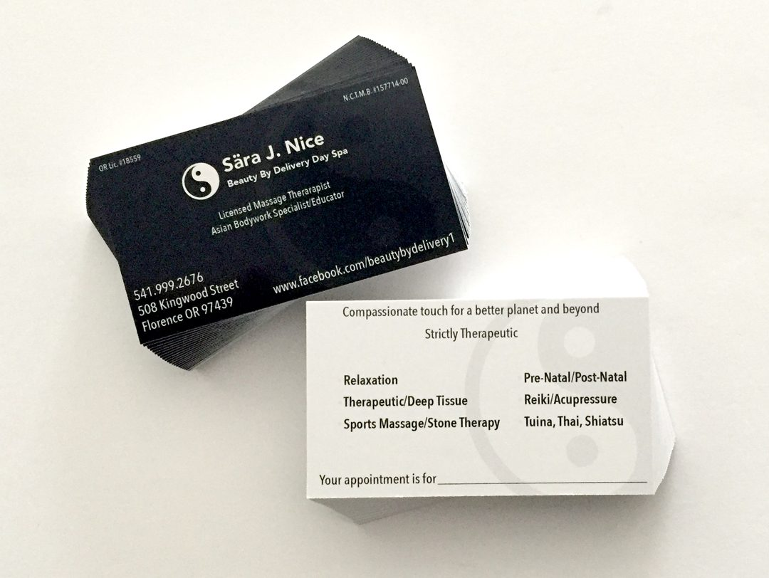 Sara Nice – Business Cards