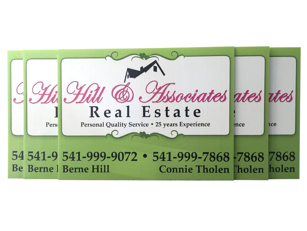 Hill & Associates Real Estate – Real Estate Yard Signs