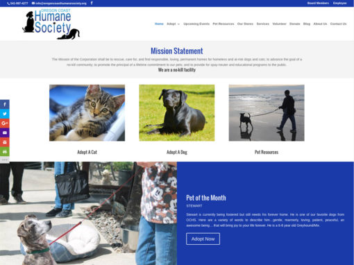 Oregon Coast Humane Society – Website