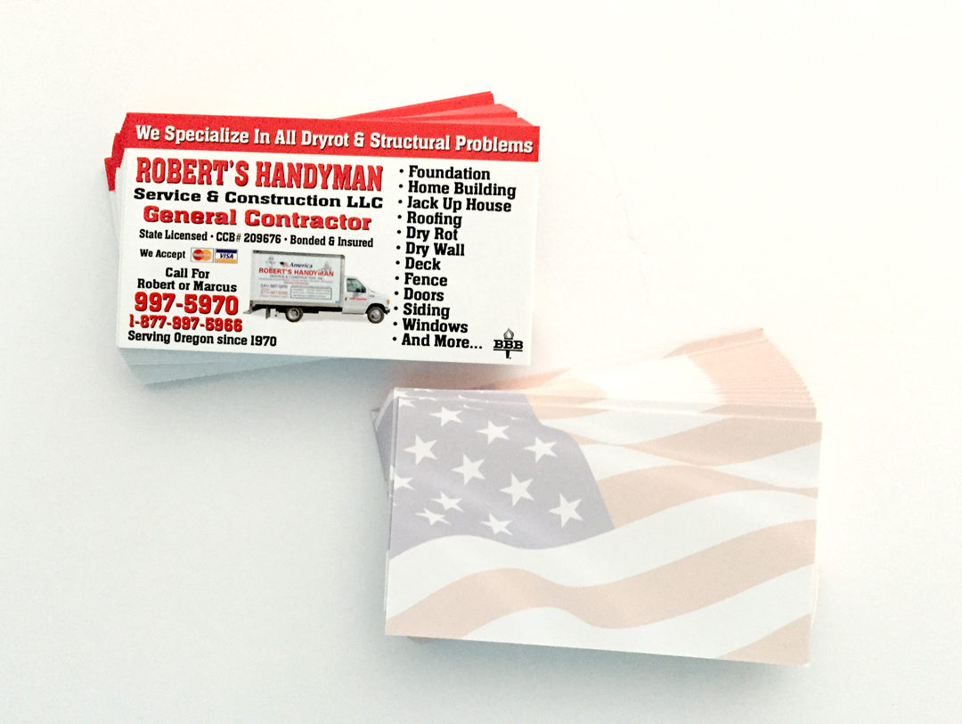Roberts Handyman - Business Card - WestCoast Media Group
