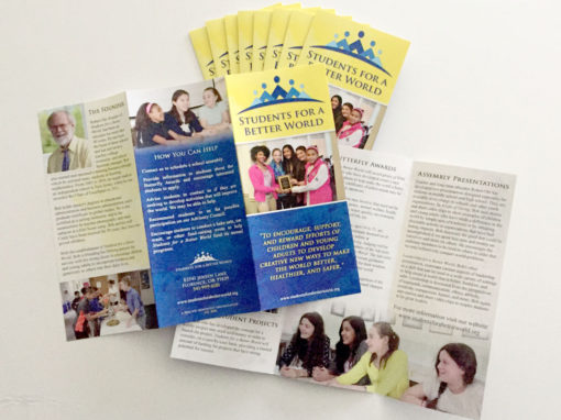 Students for a Better World – Tri-Fold Brochure