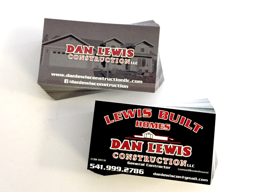 Dan Lewis Construction - Business Cards - WestCoast Media Group