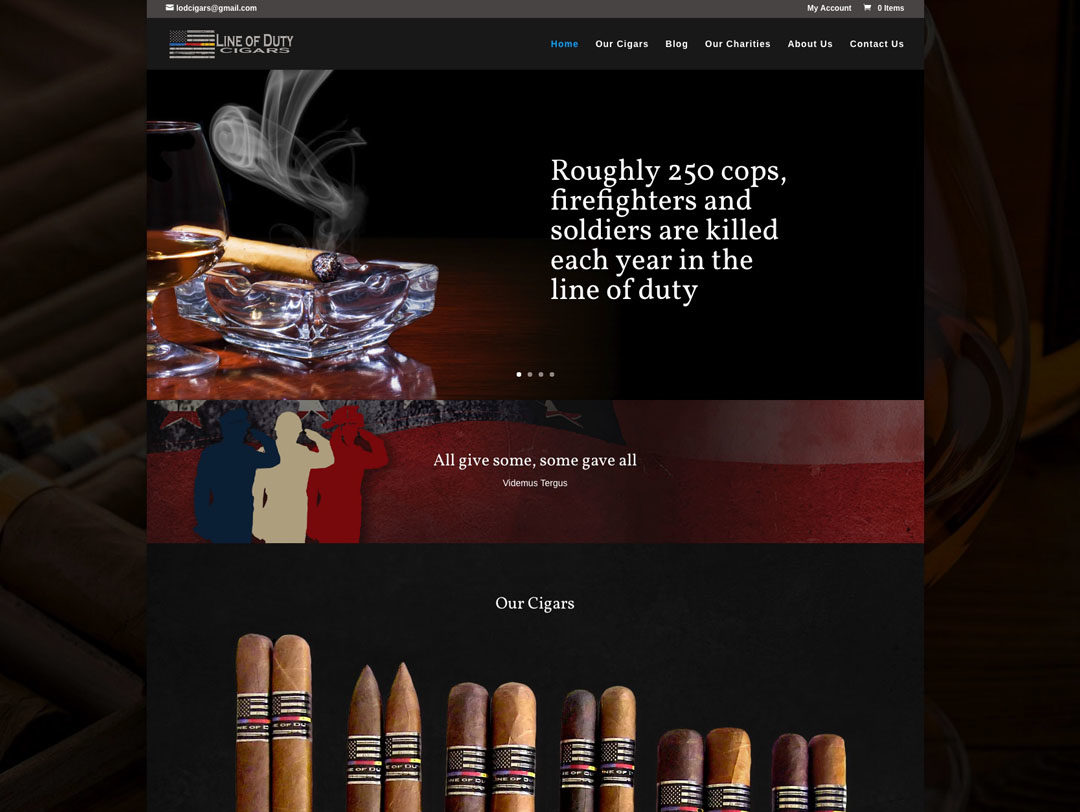 Line of Duty Cigars – E-commerce Website