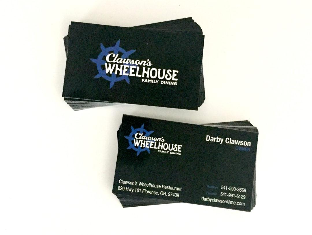 Clawson's Wheelhouse – Business Cards