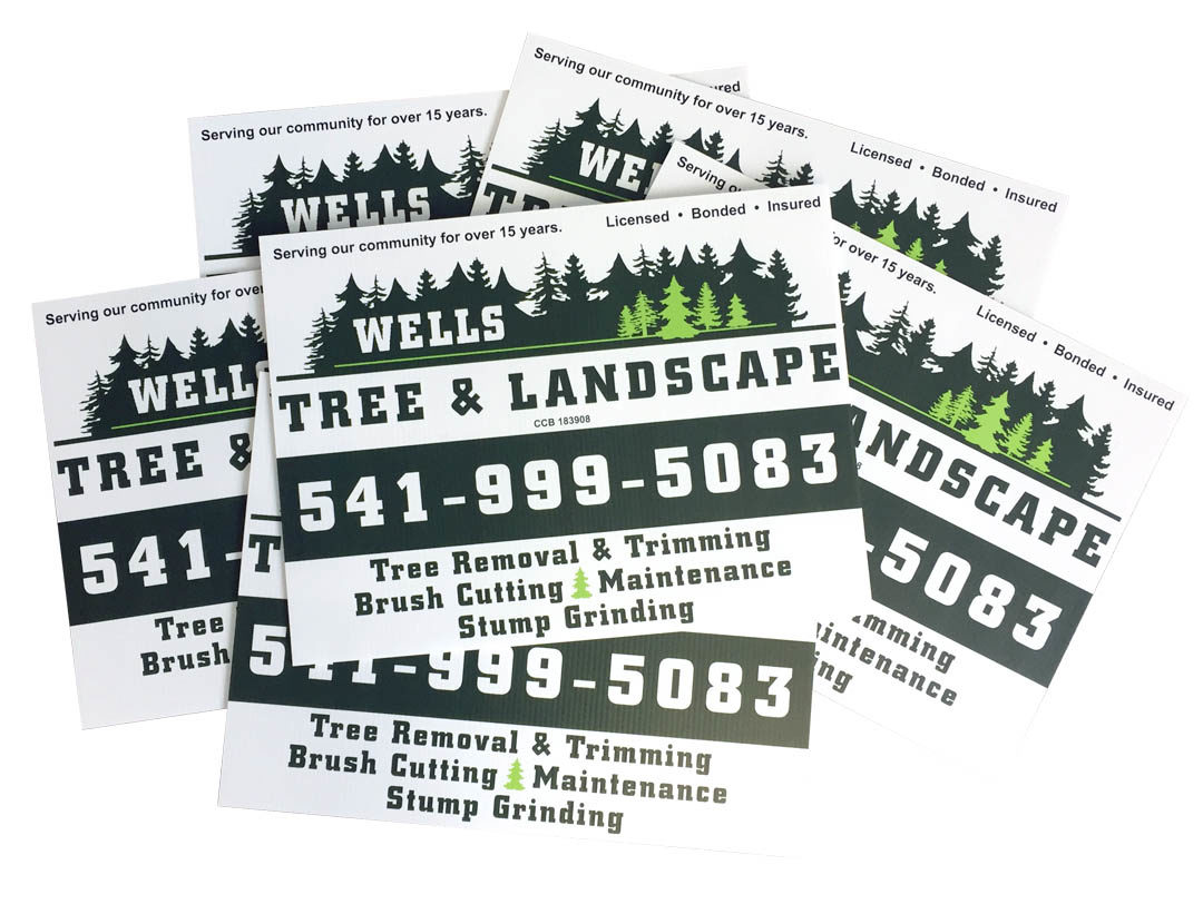 Wells Tree & Landscaping – Yard Signs