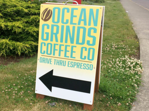 Ocean Grinds Coffee Co. – A-frame Sign