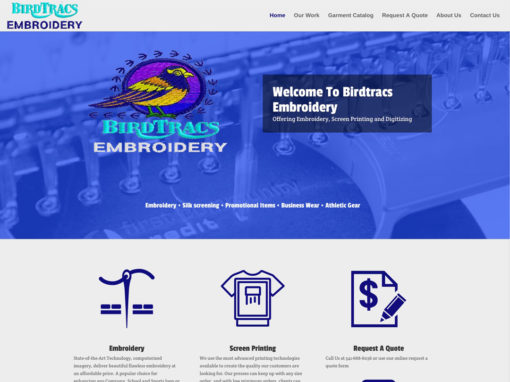 Birdtracs Embroidery – Website