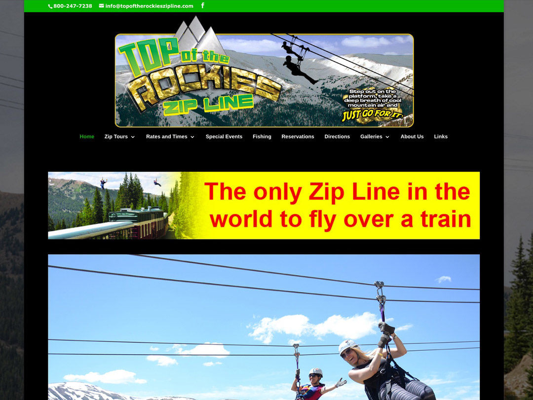 Top of the Rockies Zip Line – Website
