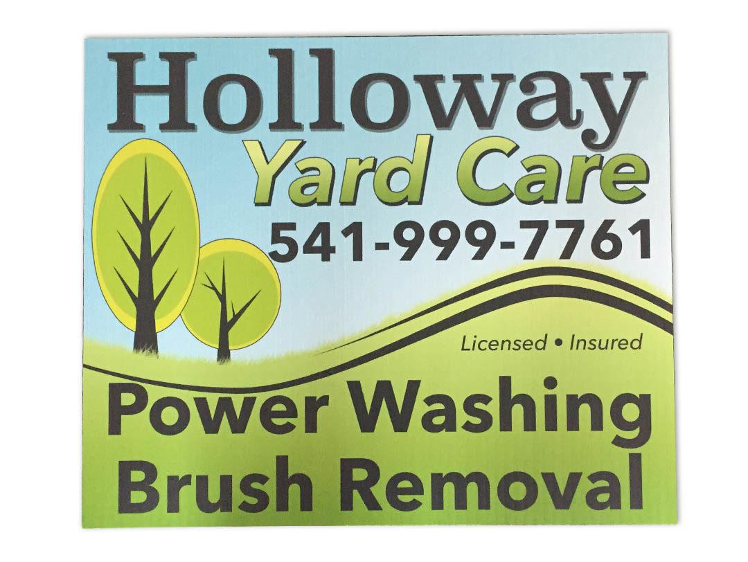 Holloway Yard Care – Yard Sign