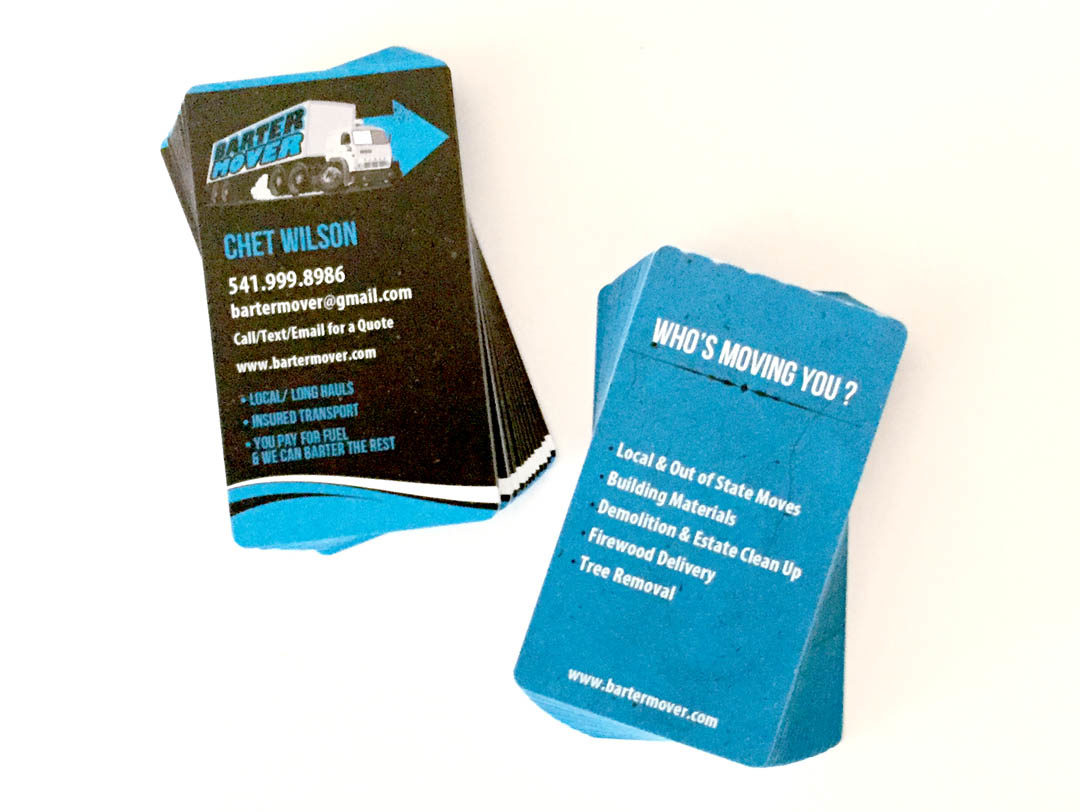Barter Mover – Plastic Business Cards