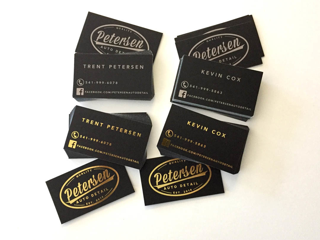Petersen Auto Detail - Business Cards - WestCoast Media Group