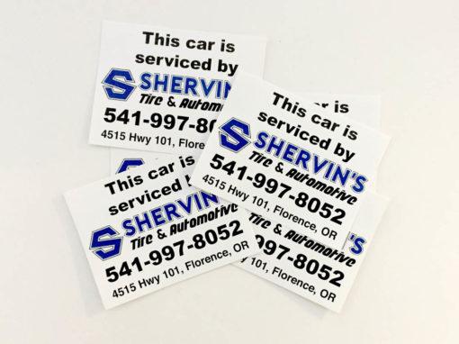 Shervin's Tire & Automotive – Vinyl Stickers