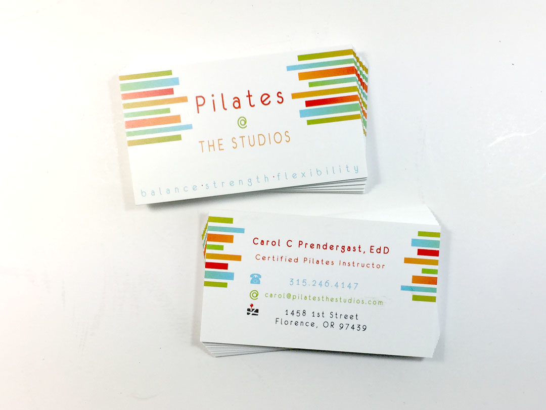 Pilaties @ The Studios – Business Card