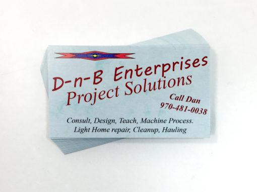 D-n-B Enterprises – Business Cards