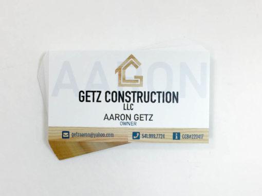 Getz Construction – Business Cards
