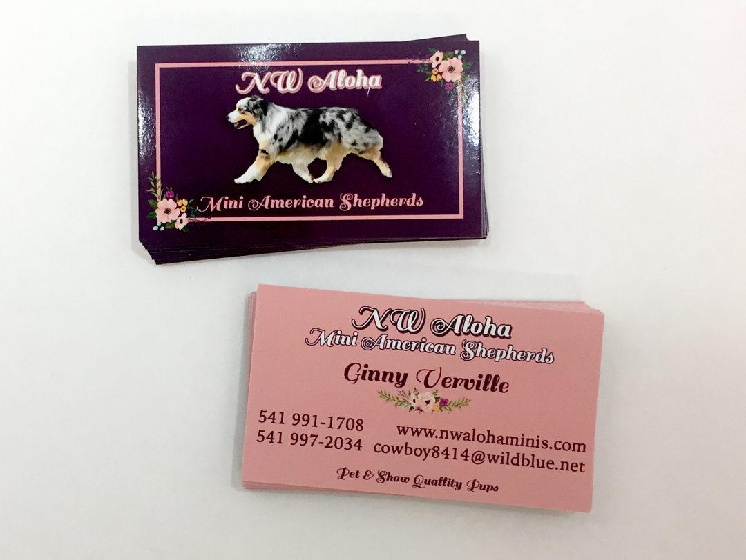 NW Aloha – Business Cards