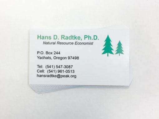 Hans Radtke – Business Card