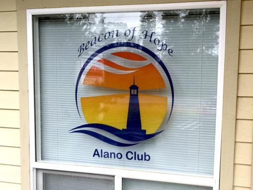 Alano Club – Clear Window Cling