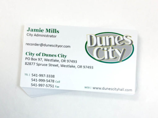 Dunes City – Business Cards