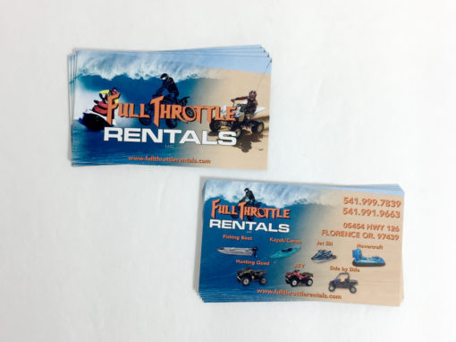 Full Throttle Rentals – Business Cards