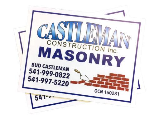 Castleman Construction – Yard Signs