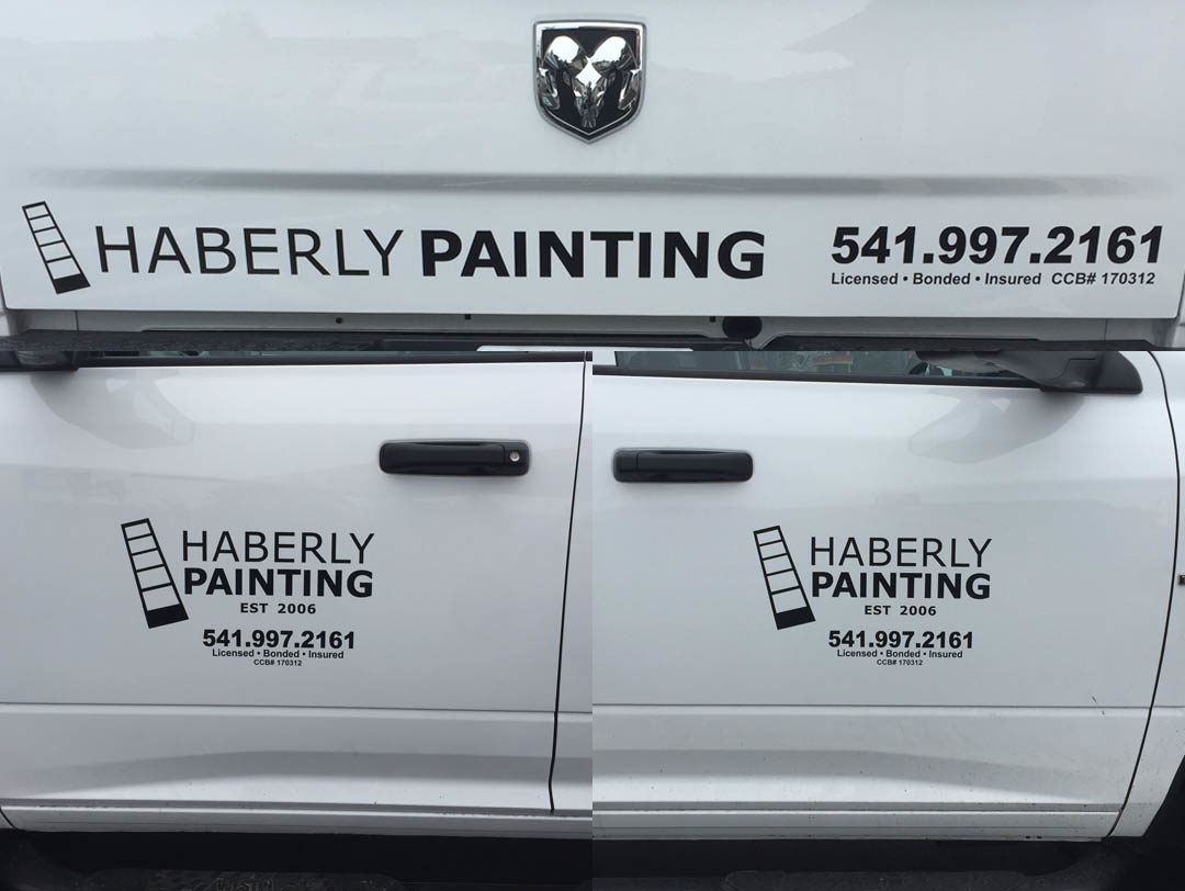 Haberly Painting – Vinyl Lettering